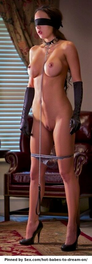 A new slave's first time as a party decoration.