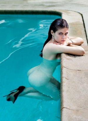 Alexandra Daddario Nude in pool