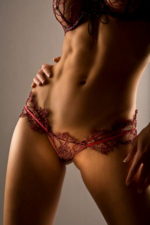 Amazing thong picture with gorgeous athletic body lace