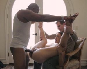 black bull owning white wife as cuckold hubby watches
