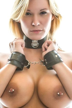 blonde with pierced nipples