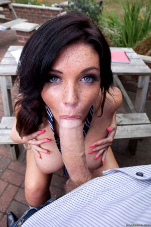 blowjob on the picnic bench