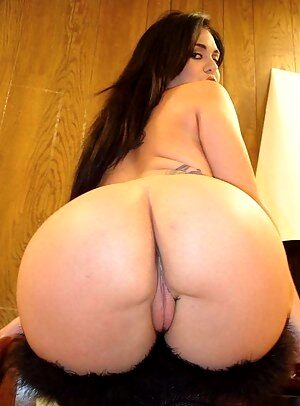 brunette with huge round ass