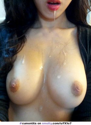 cum on her tits!!