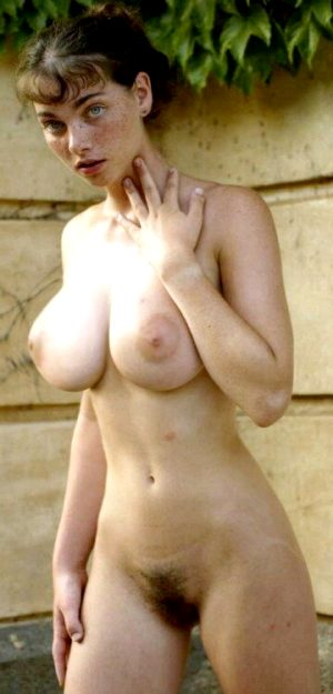 Freckled nude beauty