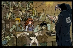 hermione & the boys in snapes class