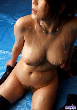 Hot boobs with cum overload