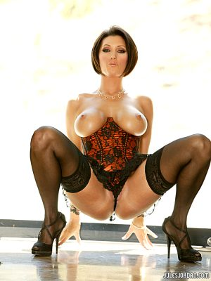 Incredible pic featuring superb rack stockings