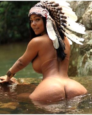 Indian babe at the river