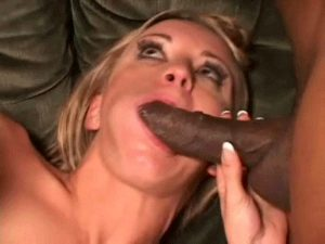 Jasmine Stuffing Her Mouth With Black Cock While