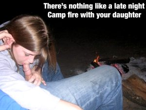 Late night fire with my daughter!