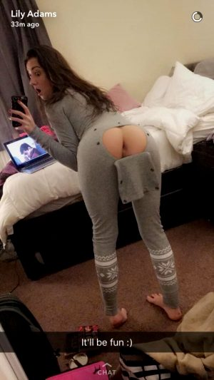 Lily Adams gives you easy access on snapchat