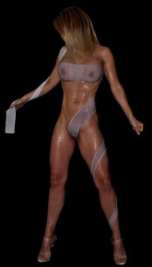 MILF wrapped in wet silk