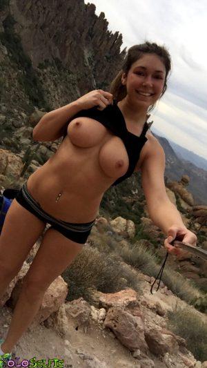 Mountain top selfie