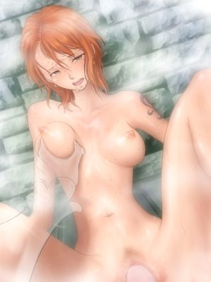 Nami fucked in bath by an invisible man