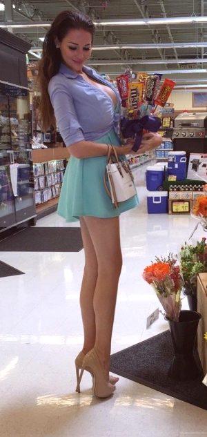 Nice slut doing some shopping