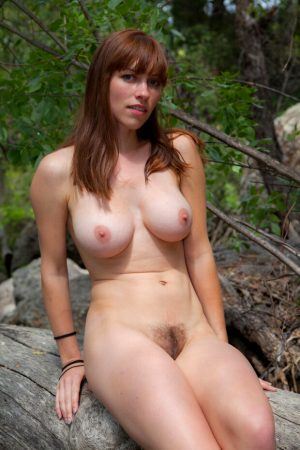 Nudist amateur in the nature