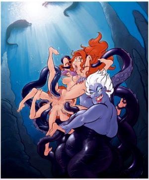 octopus ariel and ursula