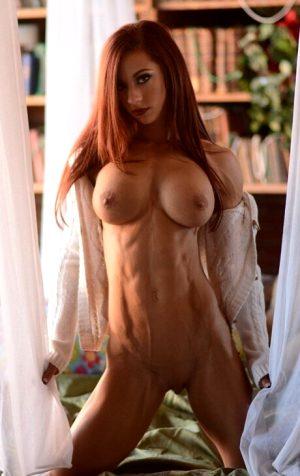 Sexy fit redhead