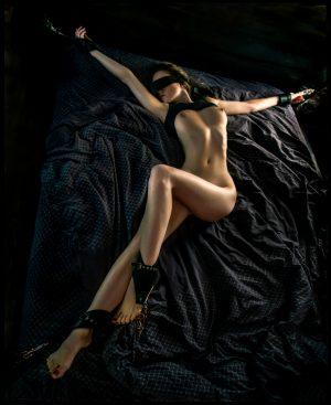 Sexy slut tied up
