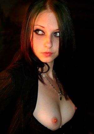 She should be in a sexy vampire porno!!