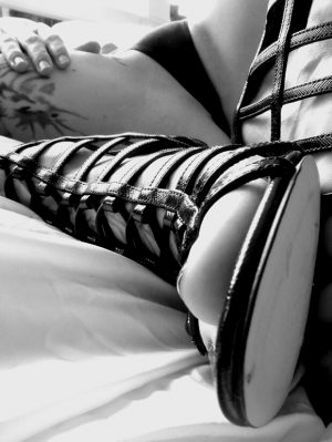 Strappy Black heel and panty
