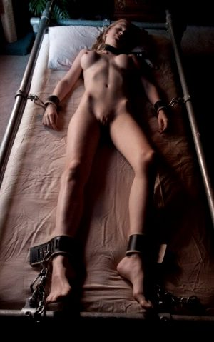 tied to the bed