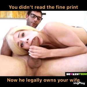 YOU fucked up … and SHE paid