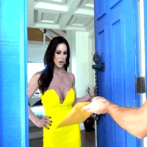 Your wife answered the door to find two debt collectors.